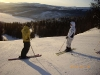 Vi andra åkte skidor. Vilket väder vi hade...