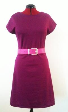 rosa/lila trikåklänning
